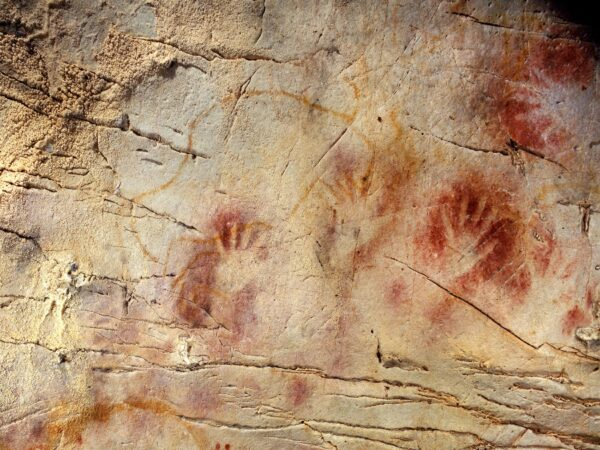 year 4200 B.C., cave paintings have been discovered in some places like Spain, Malaga, and some seal-like